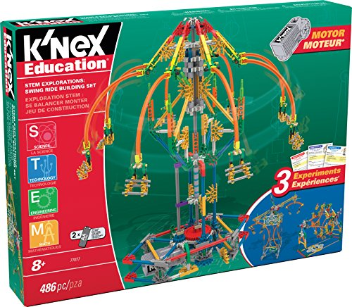 K'NEX Education STEM Explorations Swing Ride Building Set per età 8+ ingegneria...