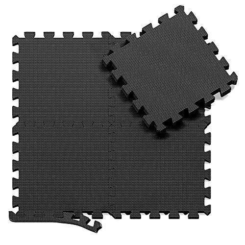 Tappeto da fitness a puzzle – set di 18 pezzi | superficie di protezione per pavimenti |...
