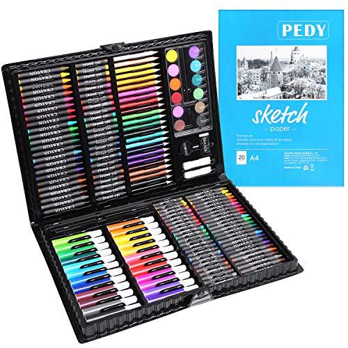 PEDY 164 Pezzi, Comprende Pastelli, Matite Colorate Set d'arte per Disegnare e Dipingere,...