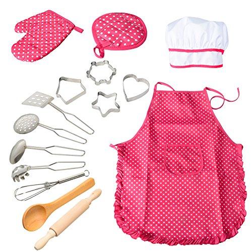ThinkMax 15 Pezzi Set di Set di Chef di Gioco del pretesto del Costume da Cucina,...