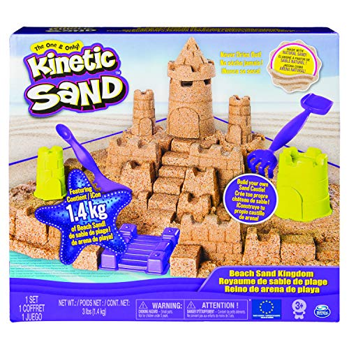 Kinetic Sand Kingdom Playset with 3lbs of Beach Sand, for Ages 3 And Up, Multicolore,...