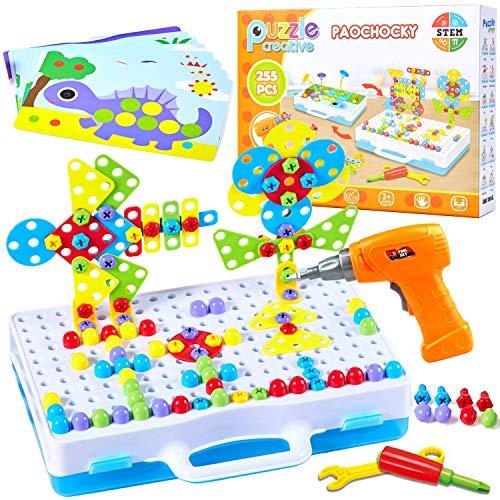 Paochocky Puzzle Bambini Costruzioni Giocattoli, Mosaico di Puzzle 3D, Giochi Costruzione...