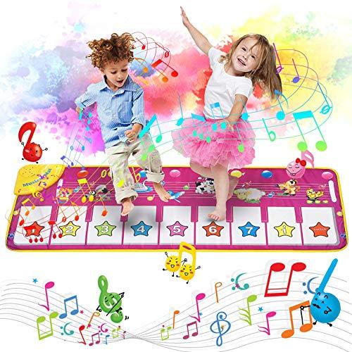 AOLUXLM Giocattoli Tappeto Musicale per Bambini Tastiera Pianoforte Musichette Educativo...