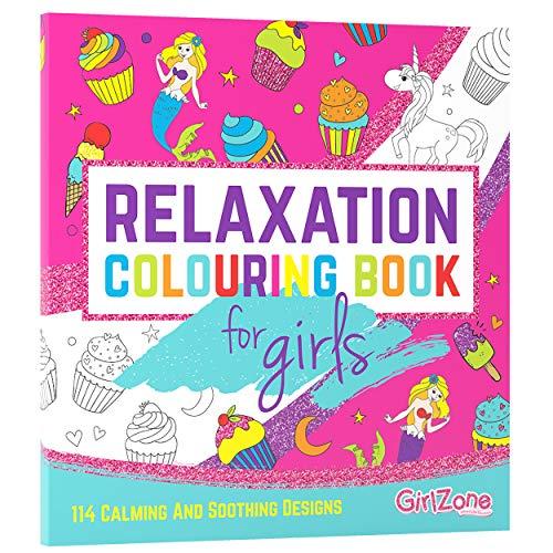 GirlZone Regalo Ragazza -Libro da Colorare per Bambini - 114 Disegni da Colorare,...