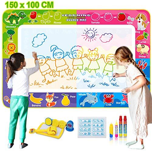 Fivejoy Tappeto Doodle Grande 150×100cm, Doodle Tappetino da Disegno Magico, Disegno...