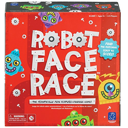 Learning Resources- Gioco da Tavolo Robot Face Race, Colore, EI-2889