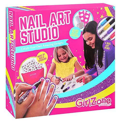 GirlZone Regalo Ragazza -Nail Art Studio Atelier delle Unghie Set da 16 Pezzi con Smalti...