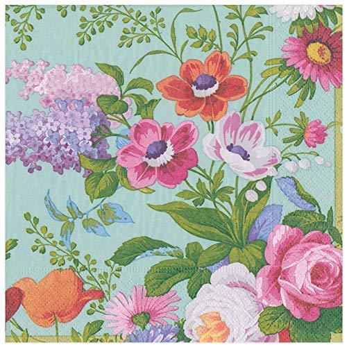 Caspari 14471D Edwardian Garden - Tovaglioli di carta, motivo: uovo di Robin, confezione...