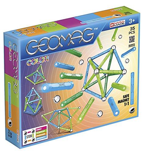 Geomag- Color Gioco di Costruzione con Sfere e Barrette, Multicolore, 35 Pezzi,...