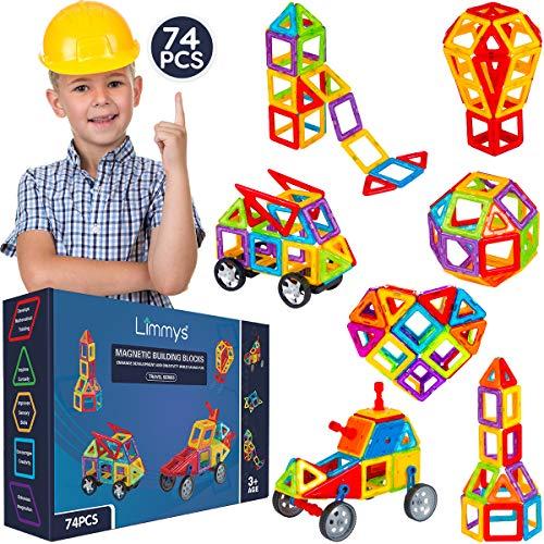 Limmys Blocchi Magnetici – Set di Costruzioni per Bambini e Bambine– Gioco Educativo...